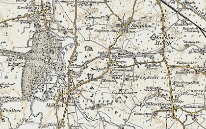 Old map of Crook of Dee in 1902-1903