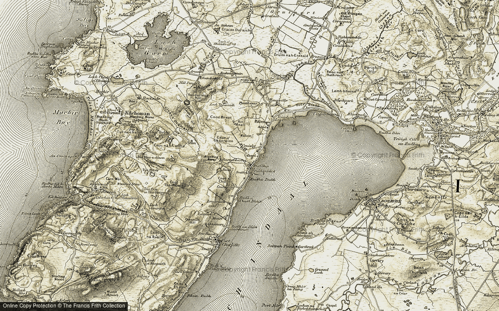 Old Map of Historic Map covering Airigh Liath in 1906