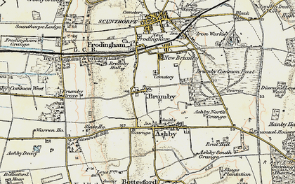 Old map of Brumby in 1903
