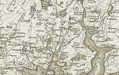 Old map of Bardister in 1911-1912