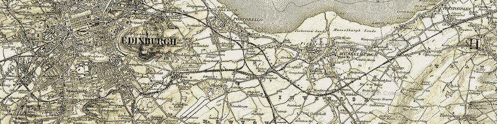 Old map of Whitehill Mains in 1903-1904