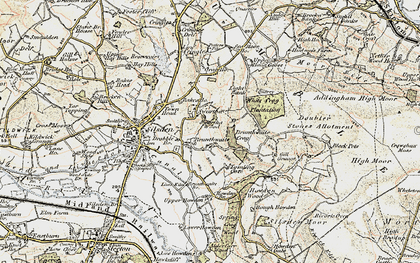 Old map of White Crag Plantn in 1903-1904