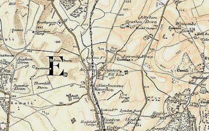 Old map of Brunton in 1897-1899
