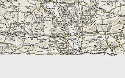 Old map of Allers Wood in 1898-1900