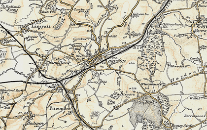 Old map of Bruton in 1899