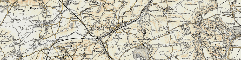 Old map of Whaddon Ho in 1899