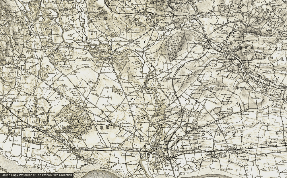 Old Map of Historic Map covering Woodcock Air in 1901-1904