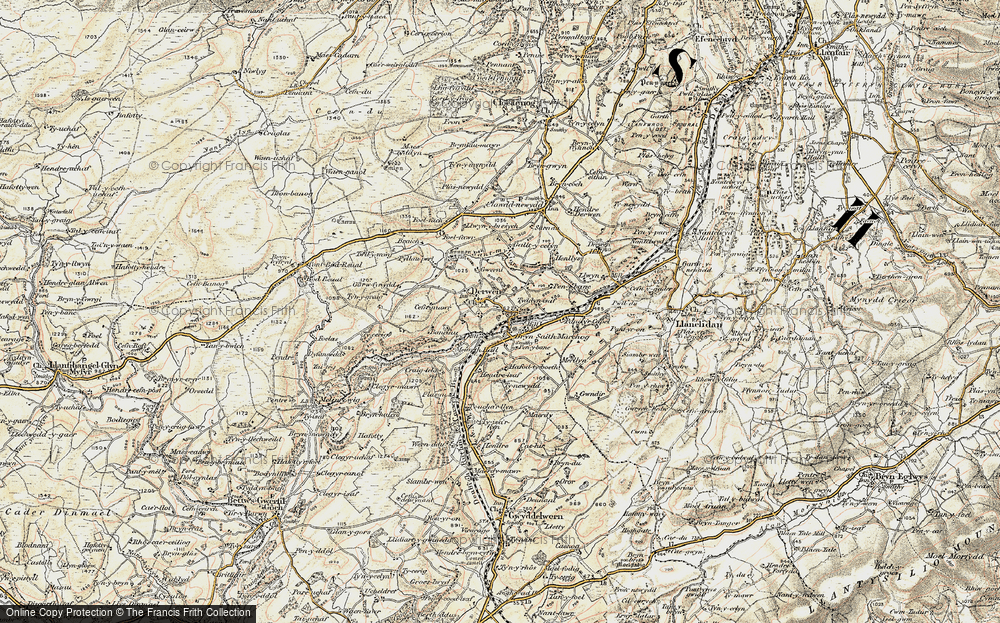 Old Map of Historic Map covering Allt-y-Celyn in 1902-1903