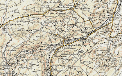 Old map of Allt-y-Celyn in 1902-1903