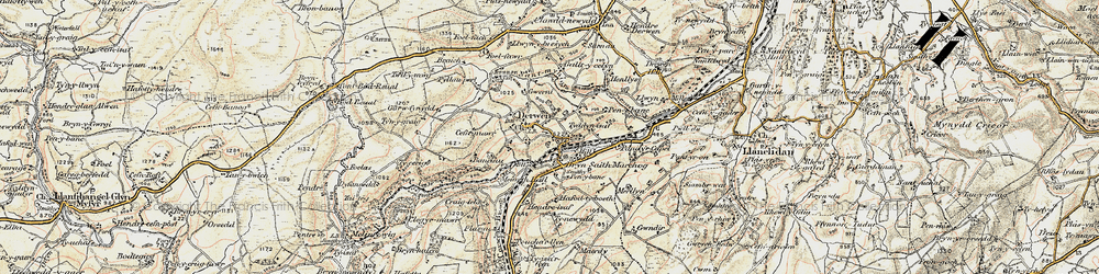 Old map of Allt-y-Celyn in 1902-1903