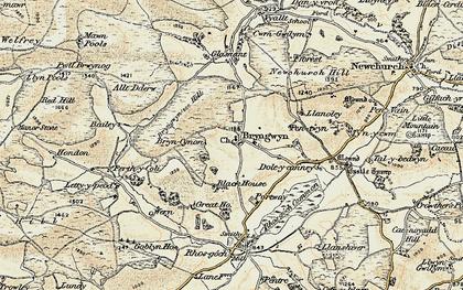 Old map of Bryngwyn in 1900-1902