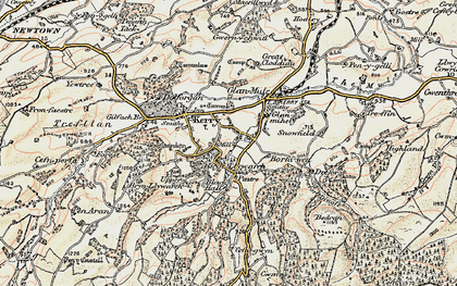 Old map of Brynllywarch in 1902-1903