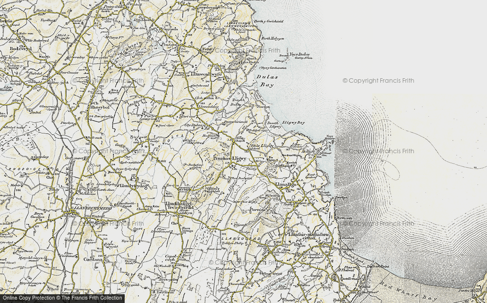Old Map of Brynrefail, 1903-1910 in 1903-1910