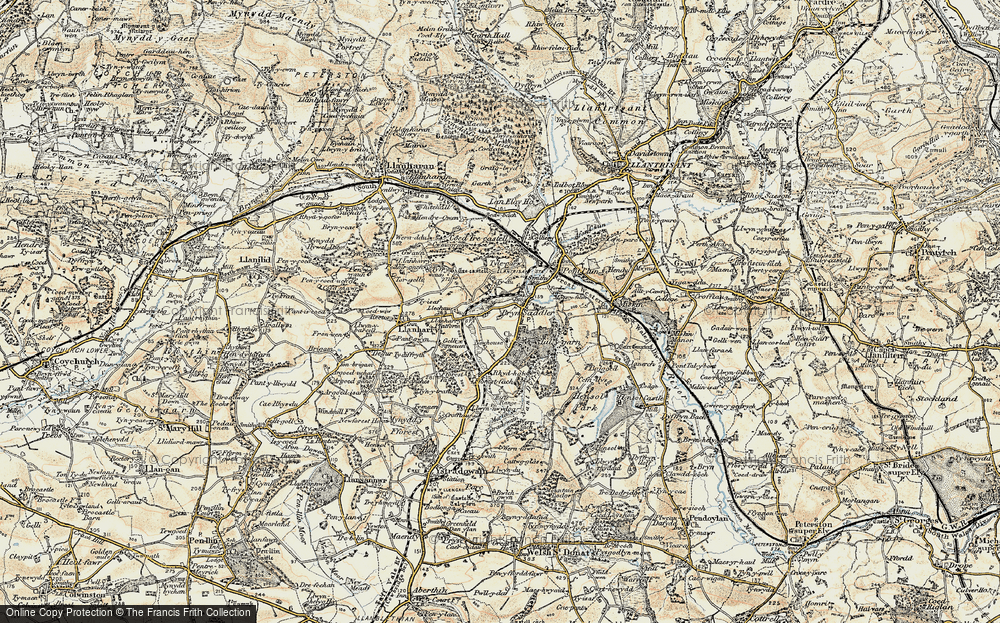 Old Map of Brynsadler, 1899-1900 in 1899-1900