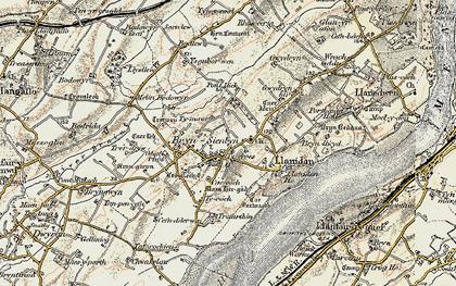 Old map of Ysgubor Wen in 1903-1910