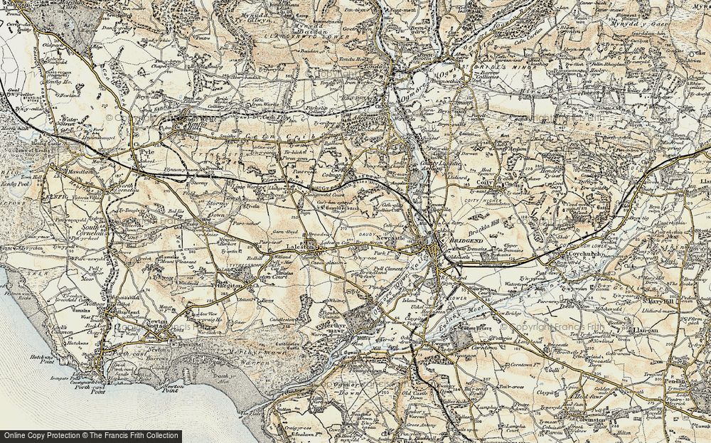 Old Map of Bryntirion, 1900-1901 in 1900-1901