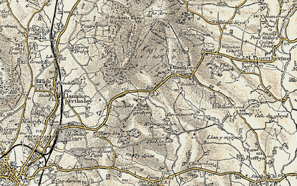 Old map of Arwallt, The in 1899-1900