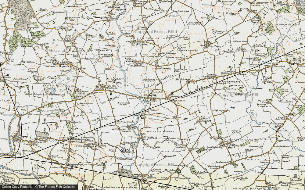 Old Map of Historic Map covering Aughton Grange in 1903