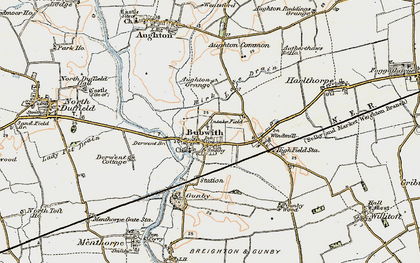 Old map of Aughton Grange in 1903