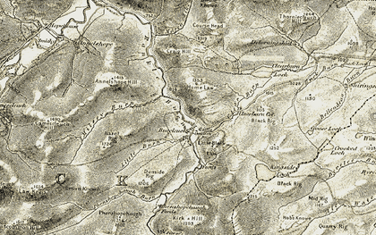 Old map of Baldhill in 1901-1904