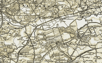Old map of Wilderness Plantn in 1904-1905