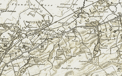 Old map of Wester Offerance in 1904-1907