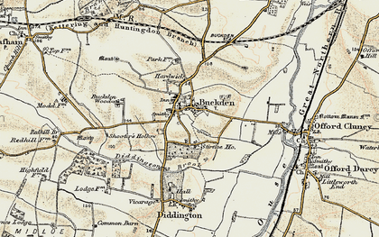 Old map of Buckden in 1901