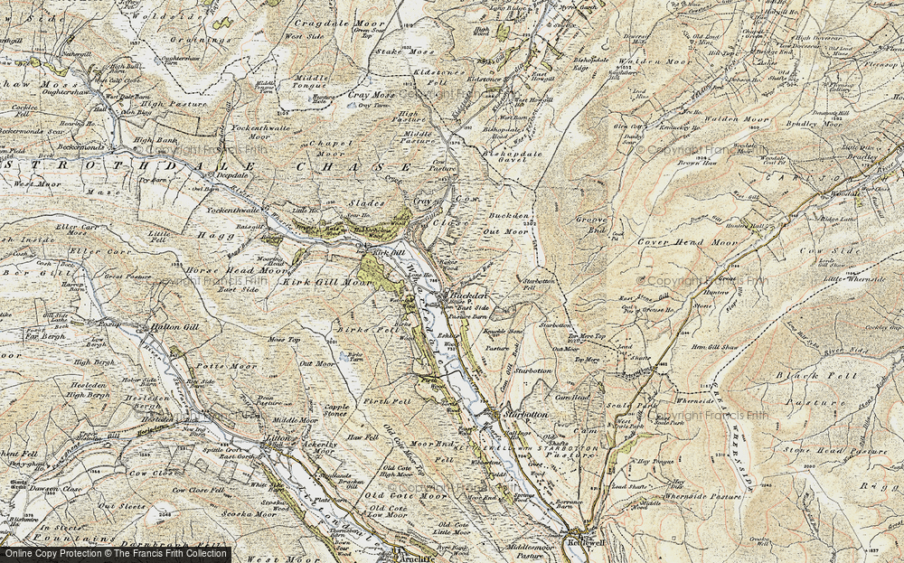 Old Map of Historic Map covering Windle Side in 1903-1904