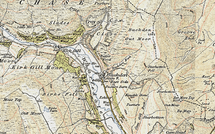 Old map of Buckden in 1903-1904