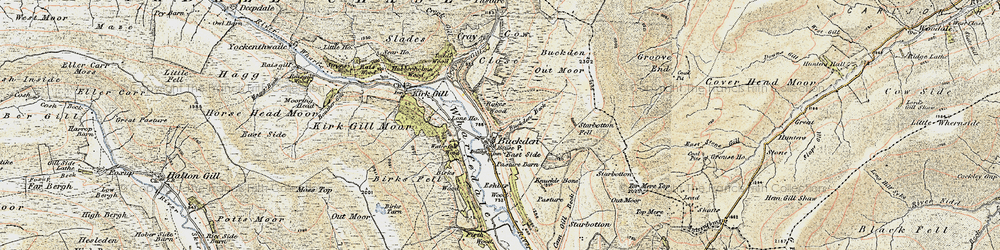 Old map of Windle Side in 1903-1904
