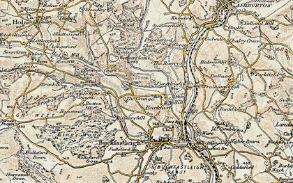 Old map of Baddaford in 1899