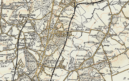 Old map of Buckhurst Hill in 1897-1898