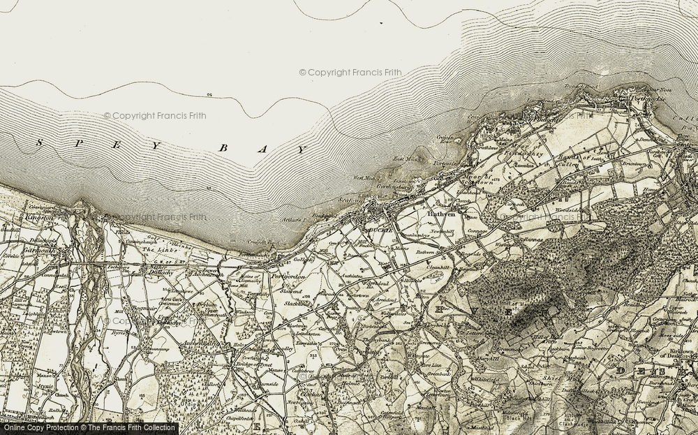 Old Map of Historic Map covering Arthur's Point in 1910
