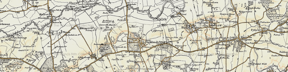 Old map of Buckland in 1897-1899
