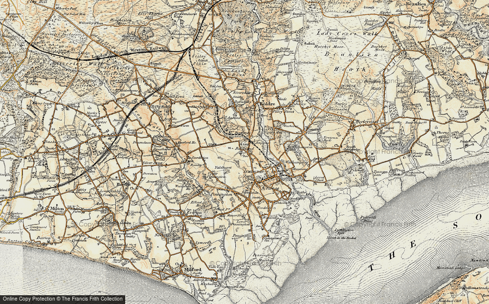 Old Map of Historic Map covering Yaldhurst in 1897-1909