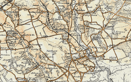 Old map of Yaldhurst in 1897-1909