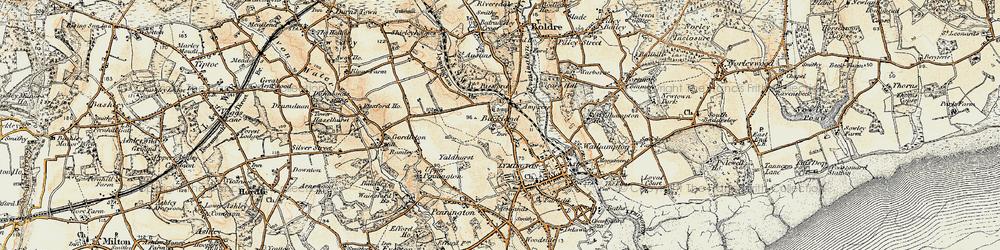 Old map of Yaldhurst in 1897-1909