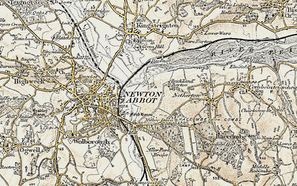 Old map of Buckland in 1899