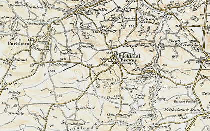 Old map of River Duntz in 1900