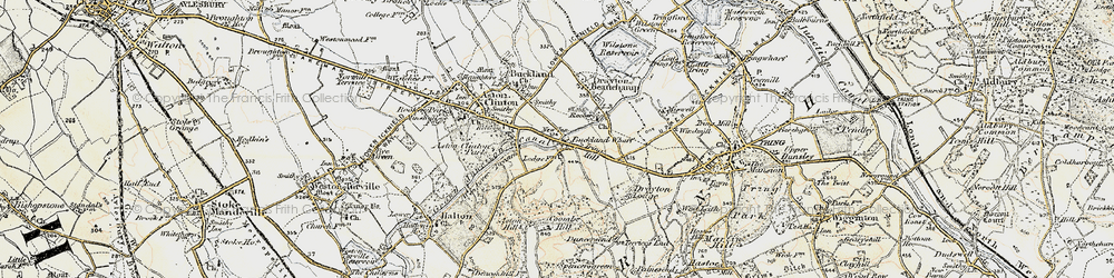 Old map of Bucklandwharf in 1898