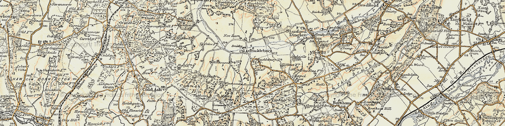 Old map of Bucklebury in 1897-1900