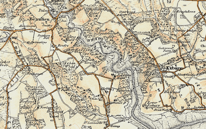 Old map of Ashen Wood in 1897-1909