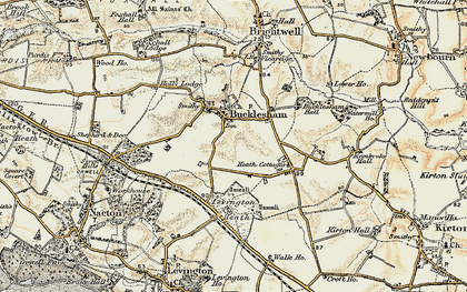 Old map of Bucklesham in 1898-1901