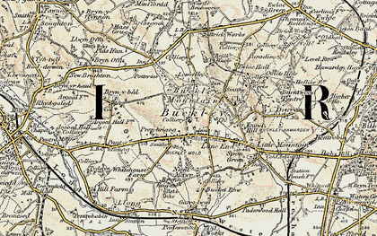 Old map of Buckley in 1902-1903