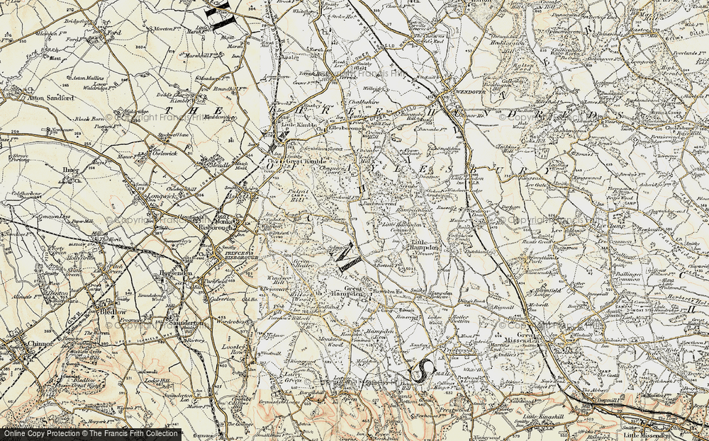 Old Map of Buckmoorend, 1897-1898 in 1897-1898