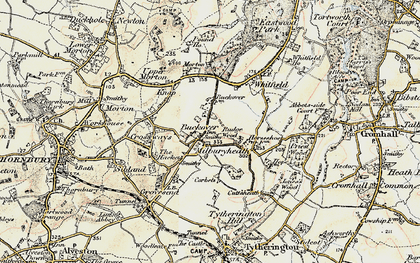 Old map of Buckover in 1899