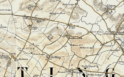 Old map of Buckworth in 1901
