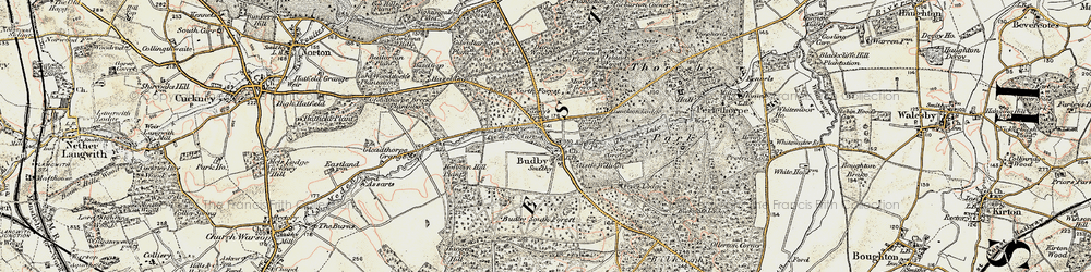 Old map of Budby in 1902-1903
