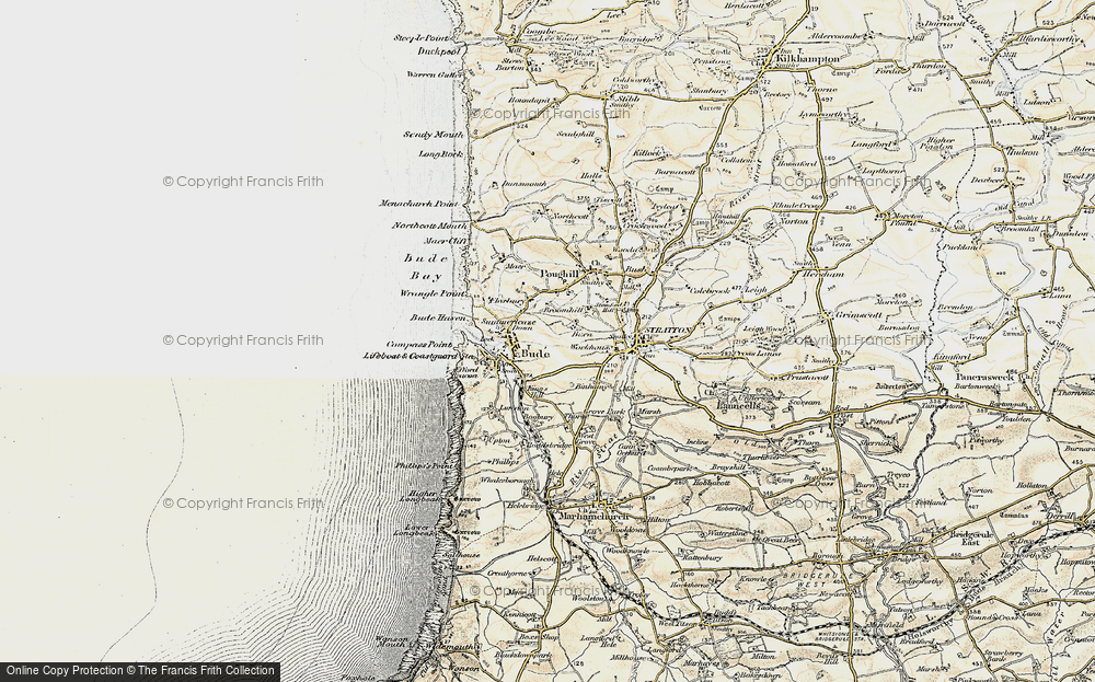 Old Map of Bude, 1900 in 1900