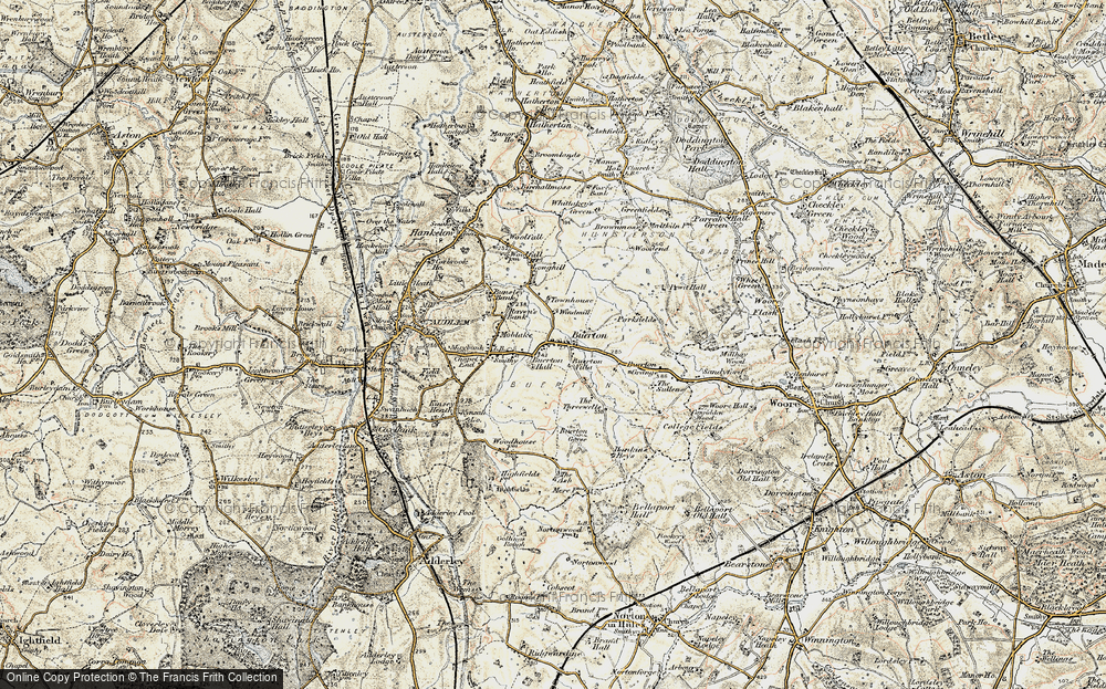 Old Map of Historic Map covering Woodend in 1902
